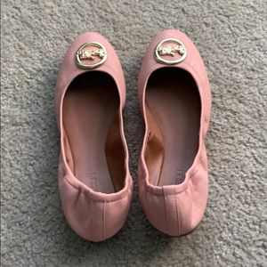 Coach Bailey Flats in Petal Pink - Size 9